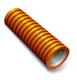orange plumbing corrugated tube vector image vector image
