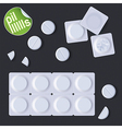 Pills In A Blister Pack vector image