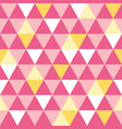 pink and yellow triangle texture seamless vector image
