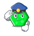 police octagon character cartoon style vector image