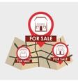 Real estate design home concept Property icon vector image