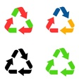 Recycle symbol icons vector image