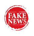 red stamp and text fake news vector image