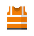 safety vest icon flat style vector image vector image