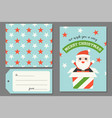 santa claus in present box christmas greeting card vector image