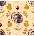 Seamless pattern Thanksgiving vector image