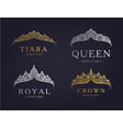 set abstract luxury royal golden vector image