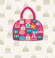 set bags fWomen bags and handbags Fashion vector image vector image