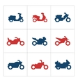 set color icons motorcycles vector image vector image