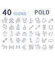 set line icons polo vector image vector image