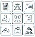 set of 9 communication icons includes speaking vector image vector image