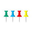 set of color push pins plastic pushpin vector image vector image
