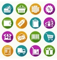 set shopping icons in flat style vector image vector image