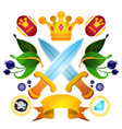 sketch of tattoo with a crowns and crown drawing vector image vector image