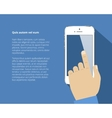 Smart phone with hand vector image vector image