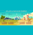 solar nuclear energy industry infographics vector image