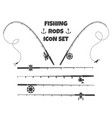 spinning fishing rod vector image
