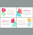 summer set colorful banners vector image vector image