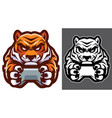 tiger gamer mascot vector image