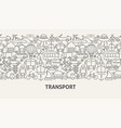 transport banner concept vector image vector image