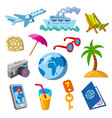travel and journey icons vector image vector image