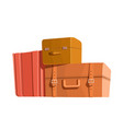 travel bags and luggage color heap of vector image vector image