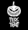 trick or treat halloween pumpkin design element vector image vector image