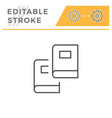 two books editable stroke line icon vector image vector image