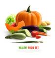 vegetables realistic composition vector image vector image