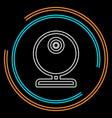video web cam - chat camera icon webcam vector image