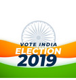 vote indian election 2019 design vector image vector image