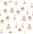 wedding seamless pattern background simple vector image