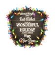 Wooden Board With Christmas Attributes EPS 10 vector image vector image