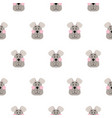 cute dog seamless pattern cartoon design vector image