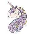 unicorn icon isolated on white vector image