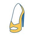 womens fashion heel vector image