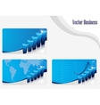 set of buisness card blue vector image