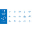 15 button icons vector image vector image