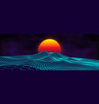 80s background retro landscape futuristic neon vector image vector image