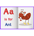 A picture of an ant in a book vector | Price: 1 Credit (USD $1)