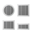 a set of rectangular and circular ventilation vector image vector image