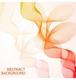 Abstract curved lines on bright background vector image vector image