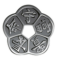 Ancient chinese coin vector image