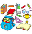 back to school collection 4 vector image vector image