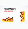Background of Two Running shoes Bright Sport vector image vector image