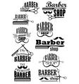Black vintage barber shop logo and emblems
