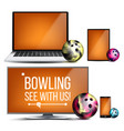 bowling application bowling ball online vector image
