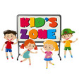 boys and girls in kids zone vector image