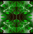 bright green embroidery abstract 3d seamless vector image vector image