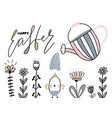 card with calligraphylettering happy easter with vector image